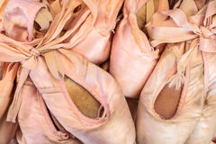 Vintage worn ballet pointes Royalty Free Stock Image