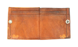 Vintage worn leather wallet Royalty Free Stock Image