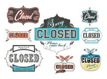 Vintage_worn_out_closed_signs lizenzfreie stockfotografie