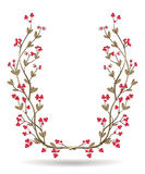 Vintage wreath of berries branches Stock Images