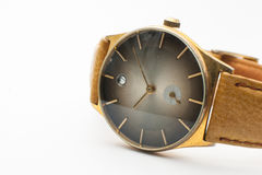 Vintage Wrist watches on white background. Wrist watches on white background Royalty Free Stock Images