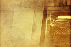 Vintage Writer Background Stock Photography