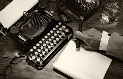 Vintage Writer Closeup Royalty Free Stock Photo