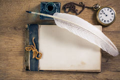 Vintage writing equipment Stock Photography