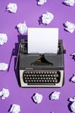 Vintage writing machine with a blank sheet of paper Royalty Free Stock Photography