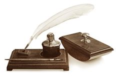 Vintage Writing Set stock photo