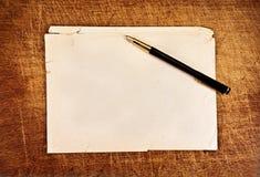 Vintage writings. Royalty Free Stock Photos