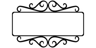 Vintage wrought iron frame. The template for the signs of an Internet store, retro style, vector frame template royalty free illustration