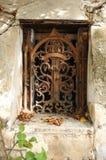 Vintage wrought iron window Royalty Free Stock Photo