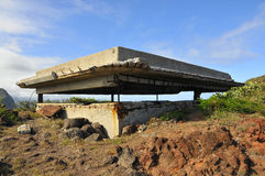 Vintage WWII Bunker. Vintage World War 2 Concrete Bunker on Oahu, Hawaii Royalty Free Stock Photos