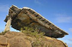 Vintage WWII Bunker 2. Vintage World War 2 Concrete Bunker on Oahu, Hawaii Stock Images