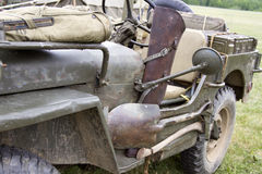 Vintage WWII Jeep with Tools Stock Photography