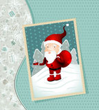 Vintage X-mas card with Santa Claus Stock Images