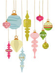 Vintage X'mas Ornaments Royalty Free Stock Photos