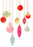 Vintage X'mas Ornaments Royalty Free Stock Photo