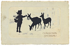 Vintage Xmas Card Royalty Free Stock Images