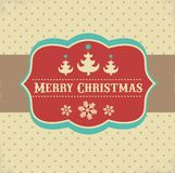 Vintage Xmas greeting card and background royalty free illustration