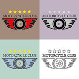 Vintage y club retro Logo Vector Set de la motocicleta Fichero eps10 Foto de archivo libre de regalías