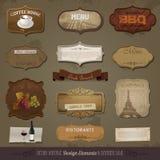 Vintage y elementos retros del diseño Imagen de archivo