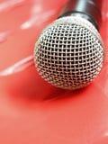 Vintage y un micrófono Imagen de archivo