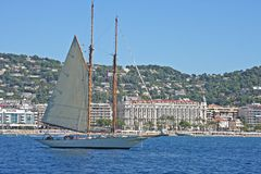 Vintage yacht Royalty Free Stock Images