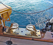 Vintage yacht, deck detail Stock Images