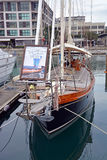 Vintage Yacht for Hire in Viaduct Basin, Auckland New Zealand Royalty Free Stock Image
