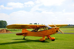 Vintage yellow airplane Royalty Free Stock Photography