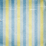 Vintage yellow blue striped paper background Royalty Free Stock Photo
