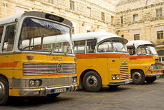 Vintage british buses in valetta malta Stock Image