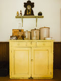 Vintage Yellow Buffet stock images