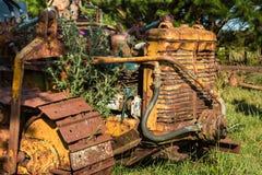 Vintage Yellow Bulldozer Royalty Free Stock Image