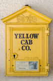 A Vintage Yellow Cab Callbox Royalty Free Stock Images