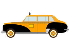 Vintage yellow cab Stock Image