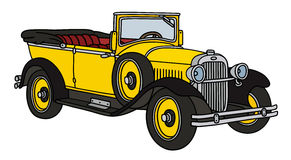 Vintage yellow cabriolet Stock Photography