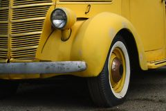 Vintage Yellow Car Royalty Free Stock Images
