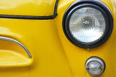 Vintage yellow car Stock Photos