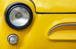 Vintage yellow car Royalty Free Stock Image