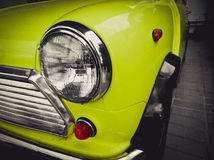 The vintage yellow car Stock Images