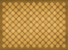 Vintage yellow circles pattern. Retro yellow circles pattern on a faded blue background stock illustration
