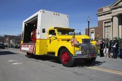 Vintage Yellow Coke Truck, St. Patrick's Day Parade, 2014, South Boston, Massachusetts, USA Stock Image