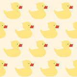 Vintage yellow ducks polygon pattern Stock Photography