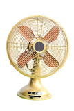 Vintage yellow electric fan Stock Images