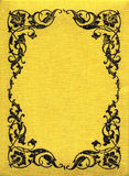 Vintage Yellow Fabric XXL Royalty Free Stock Photo