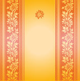 Vintage yellow floral banner Stock Photography