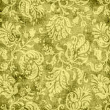 Vintage Yellow Floral Tapestry Stock Photos
