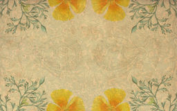 Vintage yellow flower background Stock Image