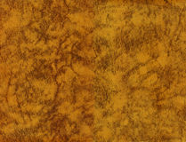 Vintage yellow leather texture Stock Photography