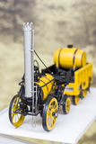 Vintage yellow locomotive model Royalty Free Stock Photo