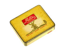 Vintage Yellow Metal Mills Special Luxuary Cigarette Box Royalty Free Stock Photography